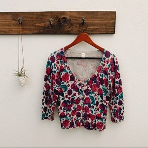 Love by Design Floral Cardigan M